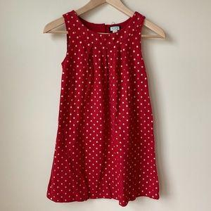 Children's Place | Girls' Gold Polka Dot Red Dress